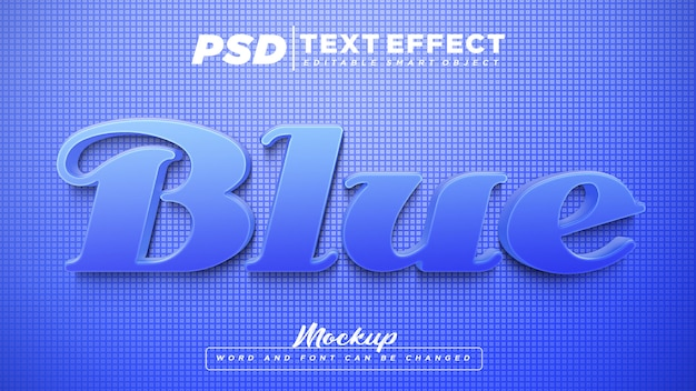 Bearbeitbarer textmodell mit blauem texteffekt