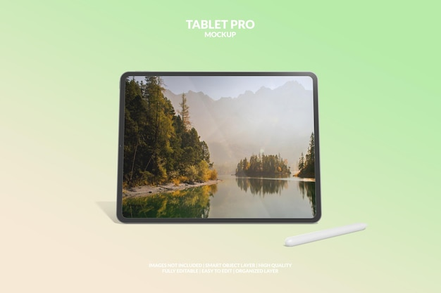 Bearbeitbares digitales tablet-pro-bildschirmmodell