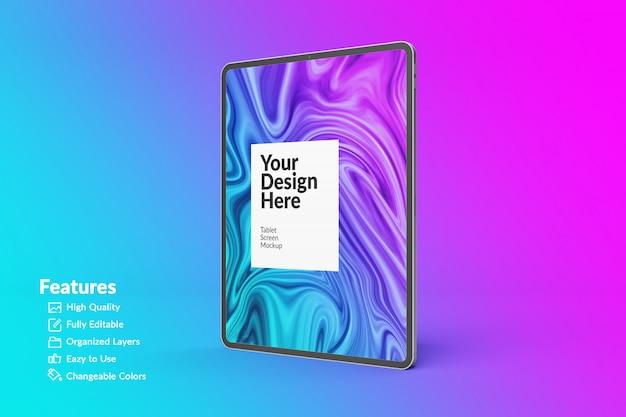 Bearbeitbares tablet-bildschirmmodell für digitale geräte