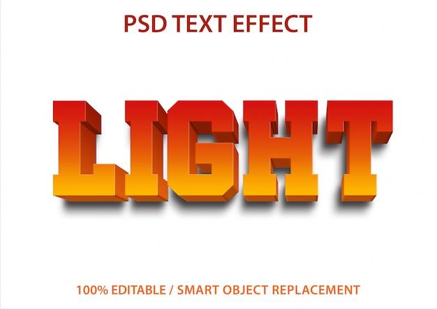 Bearbeitbares texteffektlicht