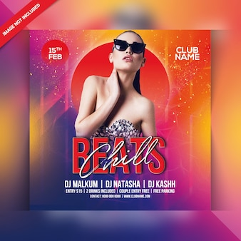 Beats chill party flyer