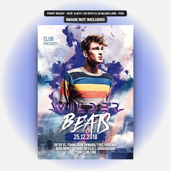 Beats party flyer