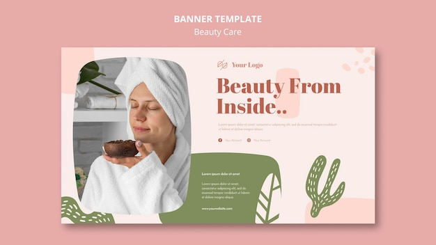 Beauty care ad banner vorlage