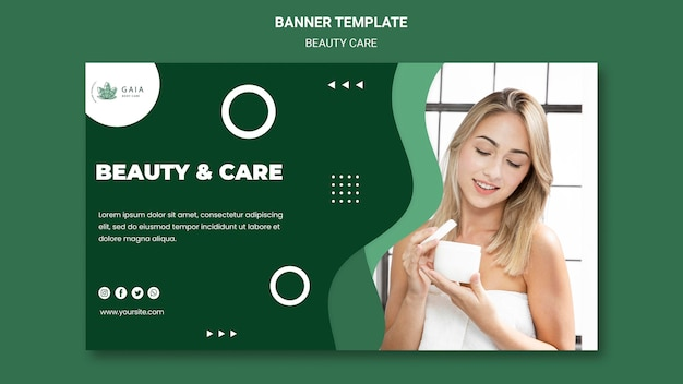 Beauty care banner vorlage