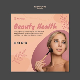 Beauty flyer vorlage design