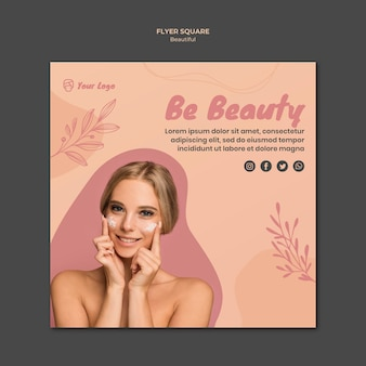 Beauty flyer vorlage
