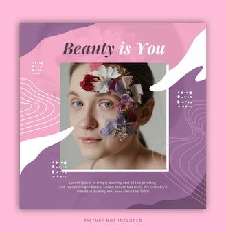 Beauty instagram post vorlage