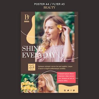 Beauty-konzept-flyer-vorlage