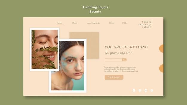Beauty landing page Kostenlosen PSD