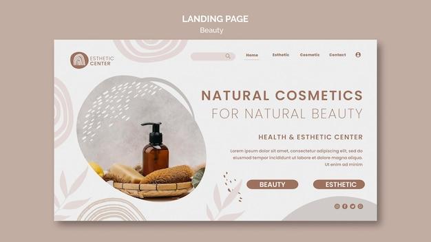 Beauty landing page