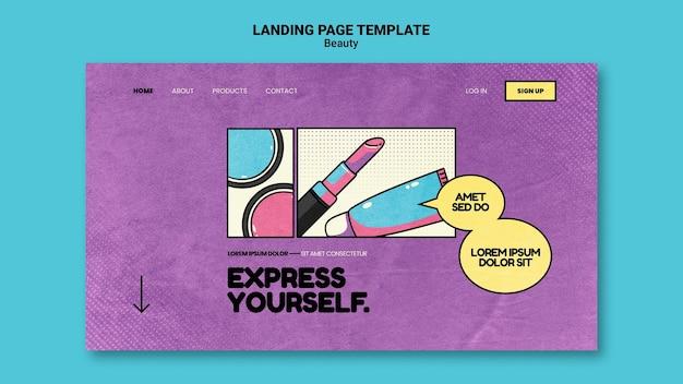 Beauty-pop-art-landingpage