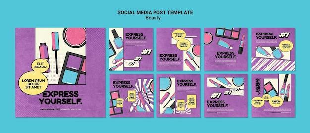 Beauty-pop-art-social-media-beiträge