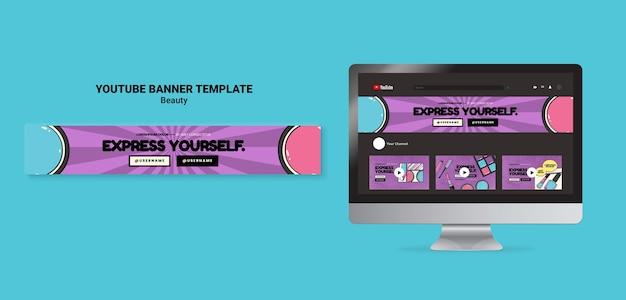 Beauty-pop-art-youtube-banner Premium PSD