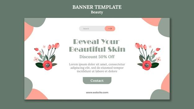 Beauty sale banner vorlage