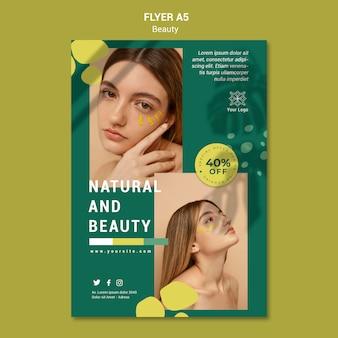Beauty salon flyer vorlage Kostenlosen PSD