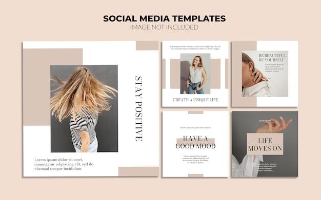 Beauty social media instagram post vorlagen