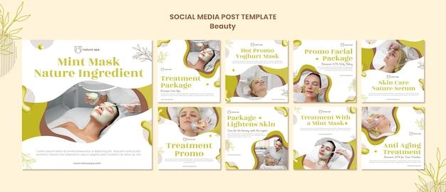 Beauty social media post