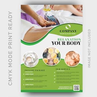 Beauty & spa flyer vorlage