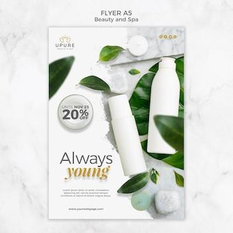 Beauty- und spa-flyer-vorlage