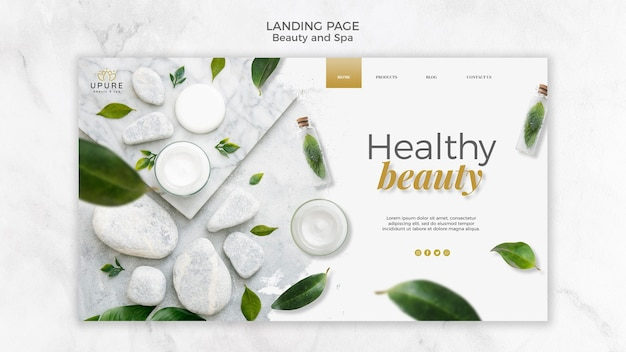 Beauty- und spa-landingpage-tempate