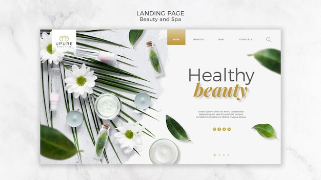 Beauty- und spa-landingpage Premium PSD