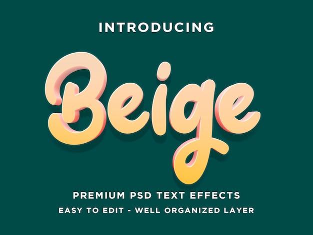 Beige 3d text style-effekt