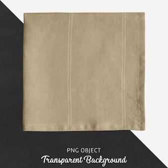 Beige inen taschentuch auf transparentem hintergrund