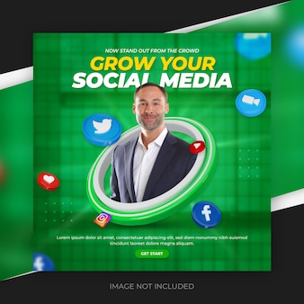 Beitragsvorlage für digitales marketing und unternehmenswerbung in sozialen medien