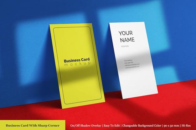 Benutzerdefinierte vertikale firmenvisitenkarte scharfe ecke modellvorlagen
