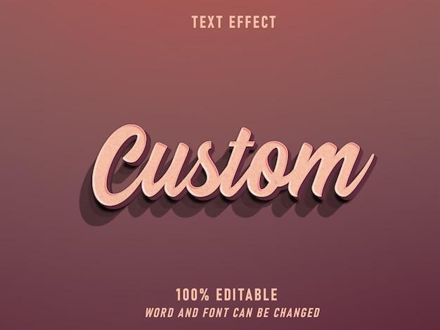 Benutzerdefinierter text retro style effekt bearbeitbarer stil vintage