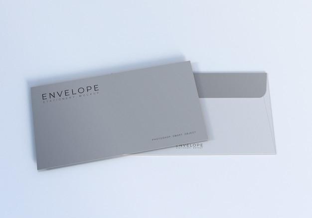 Bereinigen sie monarch envelope mockup design template