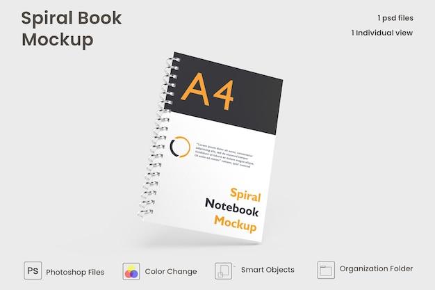 Beringte notebook-mockup-vorlage kostenlose psd