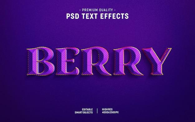 Berry text style effekt