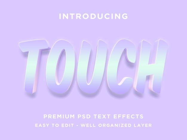 Berühren sie, bearbeitbare texteffektstile psd