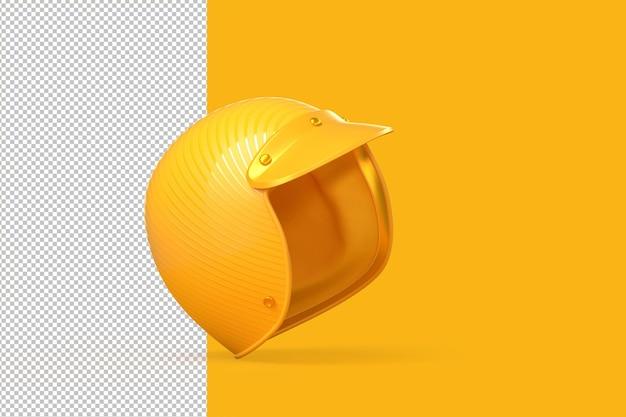 Beschneidungspfad für gelben motorradhelm