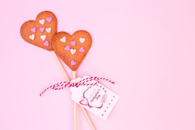 Beschriftungsmodell für valentinstag