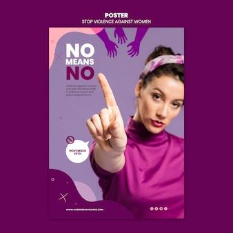 Beseitigung der gewalt gegen frauen plakat mit foto