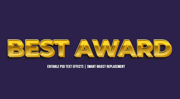 Best award - luxus goldene texteffekte