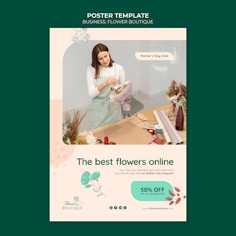 Beste blumen online-poster-vorlage