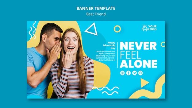 Beste freunde banner vorlage design