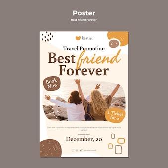 Beste freunde für immer poster vorlage