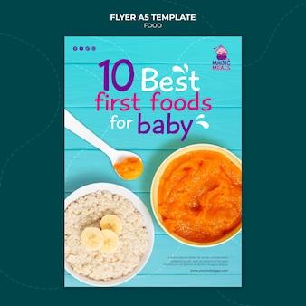 Beste vorlage für babynahrungsflyer