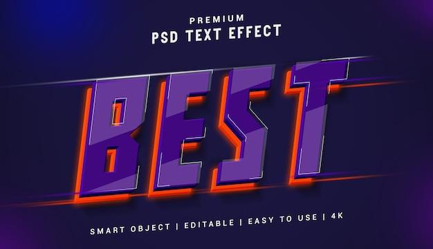 Bester premium-texteffektgenerator Premium PSD