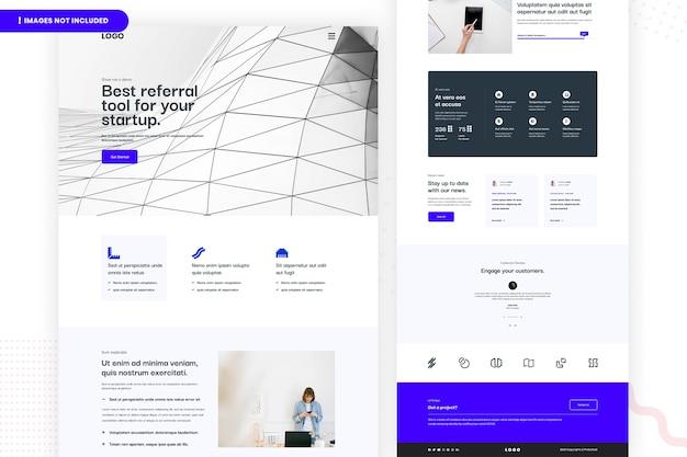 Bestes empfehlungswerkzeug für das design ihrer startup-website