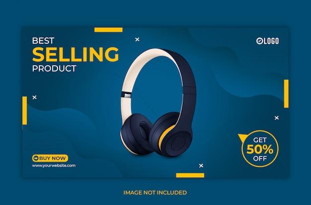 Bestseller produkt web banner vorlage