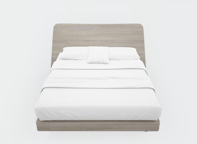 Bett mit weißen laken