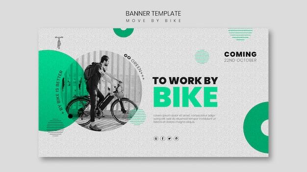 Bewegen sie sich durch fahrrad-banner-konzept