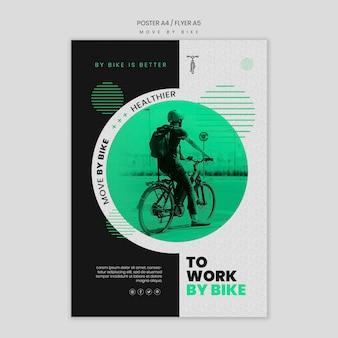 Bewegen sie sich durch fahrrad flyer vorlage