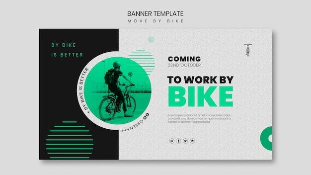 Bewegen sie sich mit dem fahrrad-banner-stil