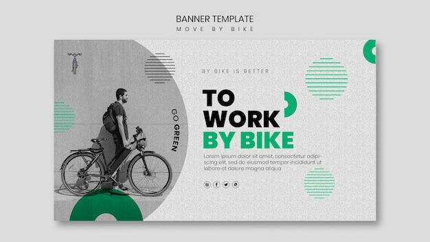 Bewegen sie sich mit dem fahrrad banner